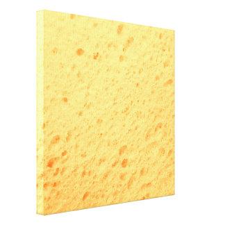 sponge,beige stretched canvas print