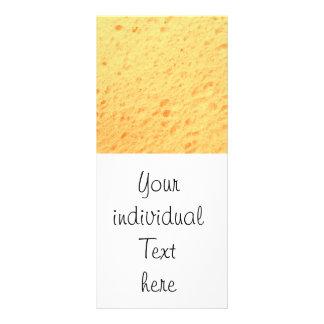sponge,beige customized rack card