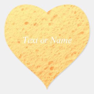 sponge,beige heart stickers