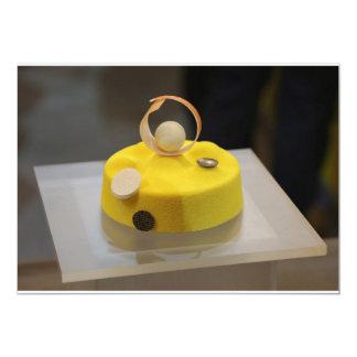Sponge cake 13 cm x 18 cm invitation card