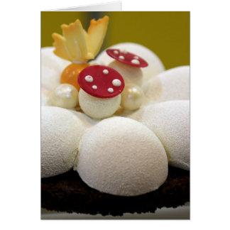 Sponge cake greeting card