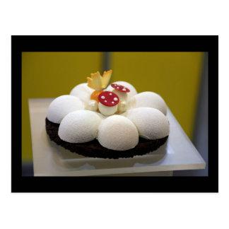 Sponge cake postcard