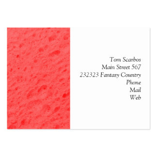 sponge,pink pack of chubby business cards