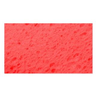 sponge,pink pack of standard business cards