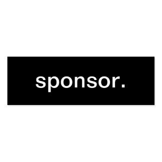 Sponsor Business Card