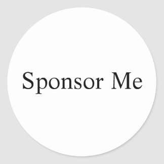 Sponsor Me Round Sticker