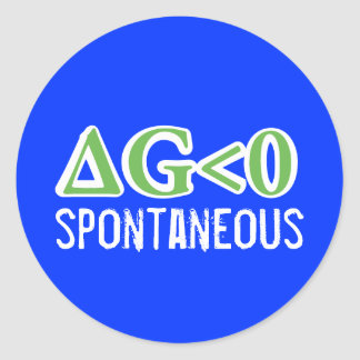 Spontaneous Classic Round Sticker