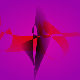 Spontaneous Purple Abstract Digital Image Photo Sculptures