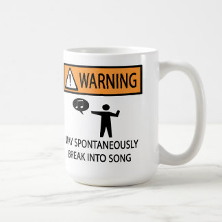 Spontaneous Singer Coffee Mug
