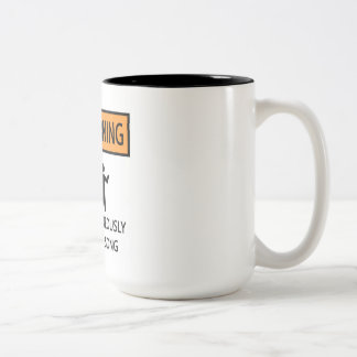 Spontaneous Singer Two-Tone Coffee Mug