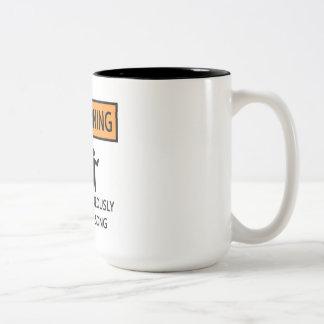 Spontaneous Singer Two-Tone Mug