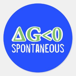 Spontaneous Round Sticker