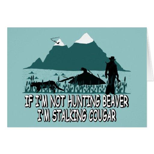 Spoof cougar hunter card