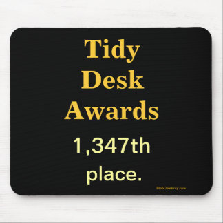 Spoof Office Awards Tidy Desk Cruel Joke Mouse Mat