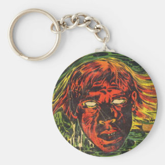Spook Comic Book Basic Round Button Key Ring