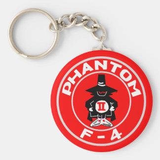 "SPOOK PATCH, F-4, ""Phantom"" Basic Round Button Key Ring"
