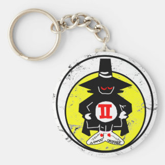 "SPOOK PATCH, F-4, ""Phantom"" Basic Round Button Key Ring"