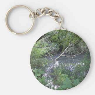 Spook pond basic round button key ring