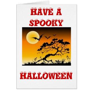 Spook scene greeting card