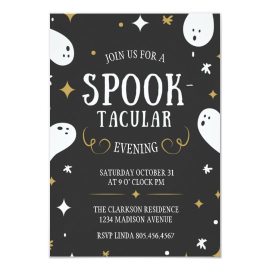 Spook-tacular Halloween Invitation