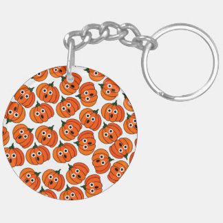 Spooked Pumpkins (Add Background Color) Acrylic Key Chains