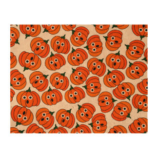 Spooked Pumpkins Add Background Color Cork Paper Print