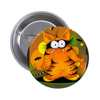 SPOOKEE PET HALLOWEEN CUTE CARTOON  Button 2¼ Inch