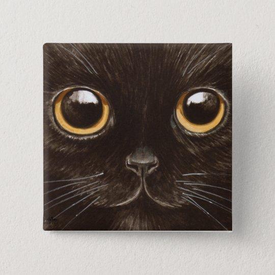 Spookie the Cat 15 Cm Square Badge