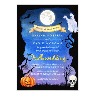 Spooktacular Hallowedding Halloween Wedding Party Card