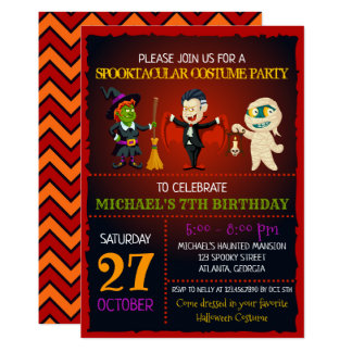 Spooktacular Halloween Birthday Invitation
