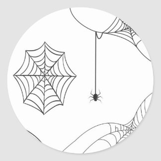 Spooky adhesive classic round sticker