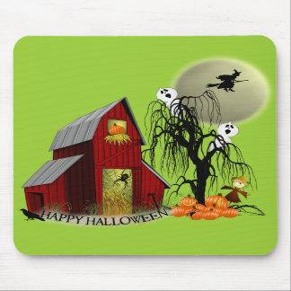 Spooky Barn Halloween Mousepad