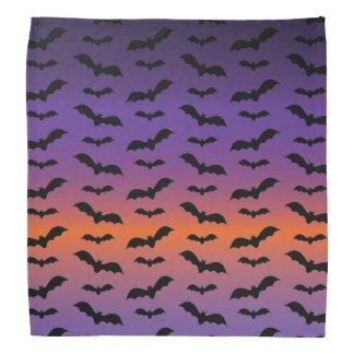 Spooky Bats On Purple Halloween Bandana