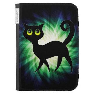 Spooky Black Cat Kindle Keyboard Covers