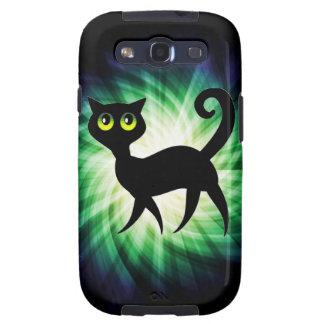 Spooky Black Cat Galaxy SIII Cases
