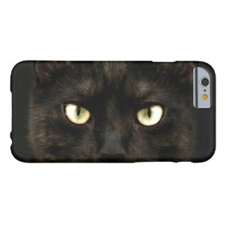 Spooky black cat eyes barely there iPhone 6 case