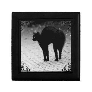 Spooky Black Cat Gothic Victorian Jewelry Box