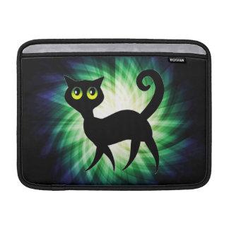 Spooky Black Cat MacBook Air Sleeves
