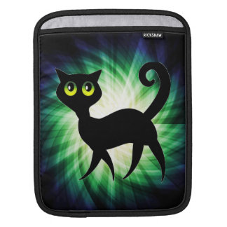 Spooky Black Cat Sleeves For iPads