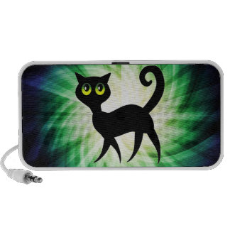 Spooky Black Cat iPhone Speaker