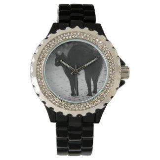 Spooky Black Cat Wrist Watch