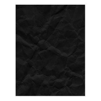 SPOOKY BLACK CRINKLED WRINKLED PAPER TEXTURE TEMPL POSTCARDS
