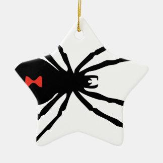 Spooky Black Widow Spider Christmas Ornament