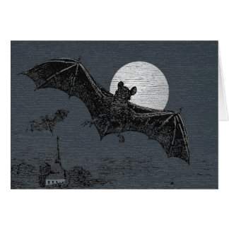 Spooky Card with Flying Bats