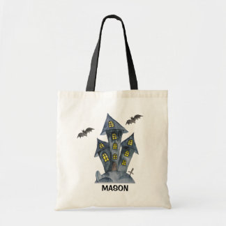 Spooky Castle Halloween Personalized Tote Bag