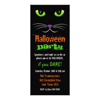Spooky Cat Face Halloween Invitation