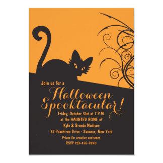 Spooky Cat Halloween Invitation