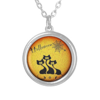Spooky Cat Halloween Necklace
