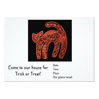Spooky Cat Halloween Party Invitation