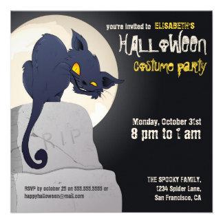 Spooky Cat Halloween Party Invite